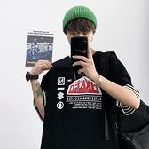 假兩件T恤男短袖潮牌歐美hiphop炸街上衣2021新款五分袖體恤寬松