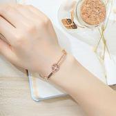 【5折超值價】時尚精美特色縷空鑲鑽圖案造型女款鈦鋼手鍊
