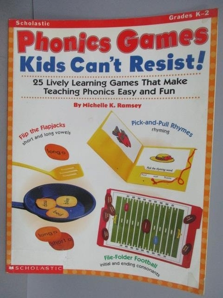 【書寶二手書T2/語言學習_PAP】Phonics Games_Kids Can t Resist!