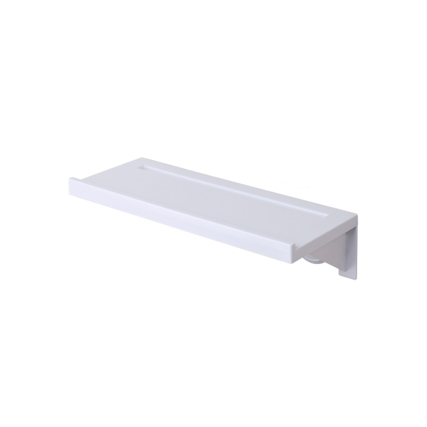 無痕貼浴室一字隔板置物架 壁掛護欄平台置物台 廁所牆面收納架整理架【ZC0102】《約翰家庭百貨