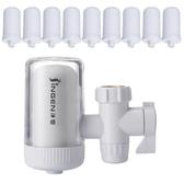 濾水器 【共10芯】凈恩JN15水龍頭凈水器家用廚房自來水過濾器前置濾水器特賣
