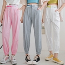 現貨-MIUSTAR 新潮!亮色英字寬鬆緊縮口運動棉褲(共3色,S-L)【NJ1666】