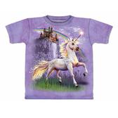 【摩達客】(預購) 美國進口【The Mountain】自然純棉系列 獨角獸城堡 設計T恤(1049045148a)