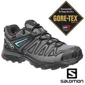 【SALOMON 法國】女 X ULTRA3 PRIME GTX低筒登山鞋『磁灰/黑/亞綠』402462 越野鞋.健行鞋.低筒