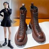 馬丁靴女鞋英倫風2021年新款秋冬季百搭厚底中筒靴瘦瘦潮ins短靴 8號店