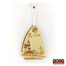 【收藏天地】木質明信片(帆船)-陽光海岸,海洋祭/ 卡片 送禮 創意吊飾 療癒小物 居家裝飾