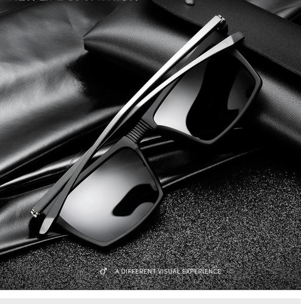 墨鏡新款潮男士方形方框太陽眼鏡偏光防紫外線司機開車專用 糖糖女屋