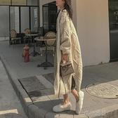 很仙懶惰風開衫毛衣女加厚麻花秋冬寬鬆外穿長款針織外套【新春快樂】