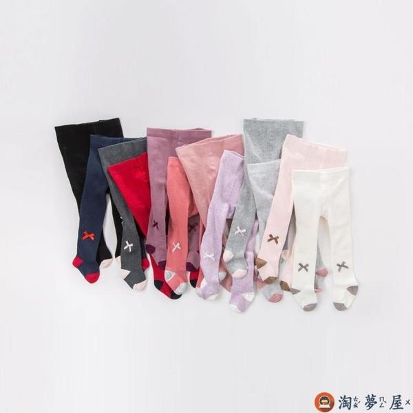 兒童襪子秋裝女寶寶洋氣打底褲嬰兒彈力連腳褲襪【淘夢屋】