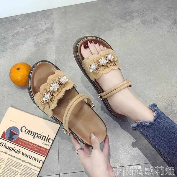 兩穿羅馬涼鞋女夏學生時尚鬆糕拖鞋韓版百搭女鞋子潮   歌莉婭