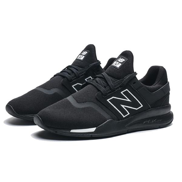 NEW BALANCE 黑 白 網布 復古 休閒 慢跑 運動鞋 男 (布魯克林) MS247BE