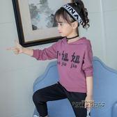 女童秋季套裝2018新款韓版時髦秋裝兒童6時尚洋氣7歲兩件套潮衛衣