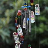 DIY手工自制風鈴材料包 木珠海洋寶寶許愿瓶幼兒園作業房地產活動 晴天時尚館