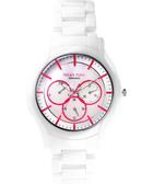 Relax Time 嶄新系列珍珠貝日曆女錶-桃紅x白/37mm RT-35-3-3L