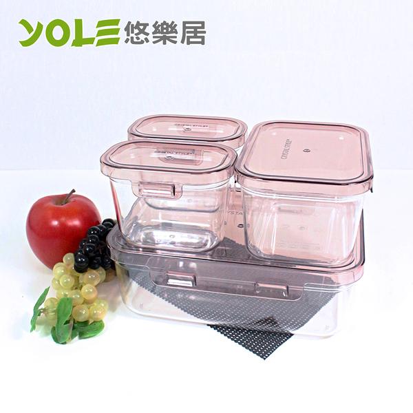 【YOLE悠樂居】Blest嚴選晶鑽長形保鮮盒禮盒包(350ml/860ml/2000ml)#1126029  蒸籠 蒸碗 微波耐熱