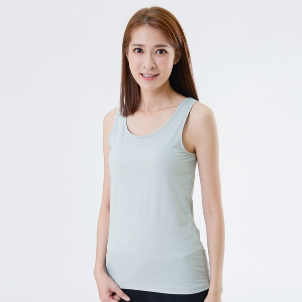 UV100 防曬 抗UV-涼感保濕圓領背心-女