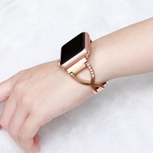 錬式新款鑲鑚蘋果apple watch1/2/3/4碗表帶女40/44mm金屬42mm38智慧 遇見生活