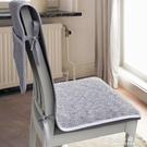 坐墊 椅子坐墊靠墊一體四季餐桌椅墊套裝簡約現代防滑布藝家用連身墊夏【果果新品】