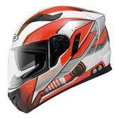 [東門城] ZEUS ZS813-AN19 白紅 輕量雙鏡 全罩式安全帽 內襯可拆洗