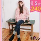 帽T -Tirlo-韓妞感小刺繡連帽T-...