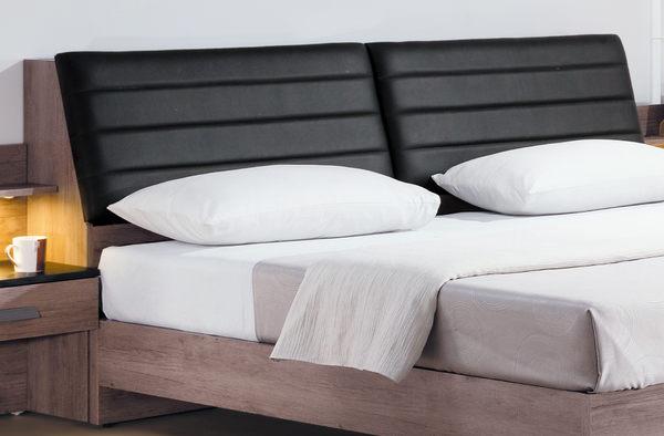 【森可家居】狄恩6尺床頭(不含床底) 7HY77-03雙人加大 木紋質感 皮質 北歐工業風 MIT台灣製造