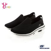 Skechers懶人鞋 男鞋 GOWALK 5 健走鞋 瑜珈墊 輕量柔軟運動鞋 T8281#黑白◆OSOME奧森鞋業