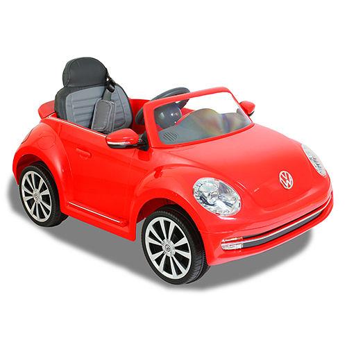 福斯Beetle高端版搖控金龜車/電動車/紅色/可遙控/兒童電動車(可遙控控制速度版)
