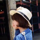 遮陽帽 草帽沙灘帽子夏天海邊大沿度假帽休閑時尚禮帽男英倫