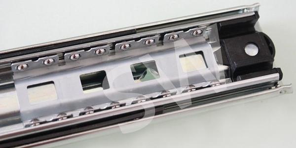 HV001 抽屜滑軌(單支售)三截滑軌 靜音滑軌 鋼珠滑軌 三節滑軌 抽中 重型滑軌 倉庫貨櫃 抽屜