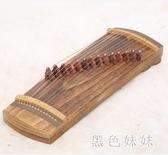 古箏 便攜式成人新手入門教學考級專業演出專用演奏樂器古箏琴 aj6781『黑色妹妹』