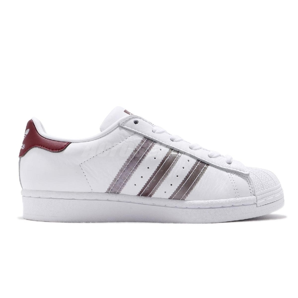 adidas 休閒鞋 Superstar 白 紅 男鞋 女鞋 小白鞋 貝殼頭 金標 運動鞋【ACS】 FX4419