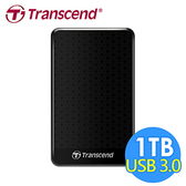 創見 StoreJet 1TB 25A3 USB3.0 2.5吋行動硬碟(TS1TSJ25A3K)-黑色