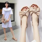 拖鞋女 拖鞋女外穿時尚百搭夏季新款韓版平底外穿學生涼拖可濕水