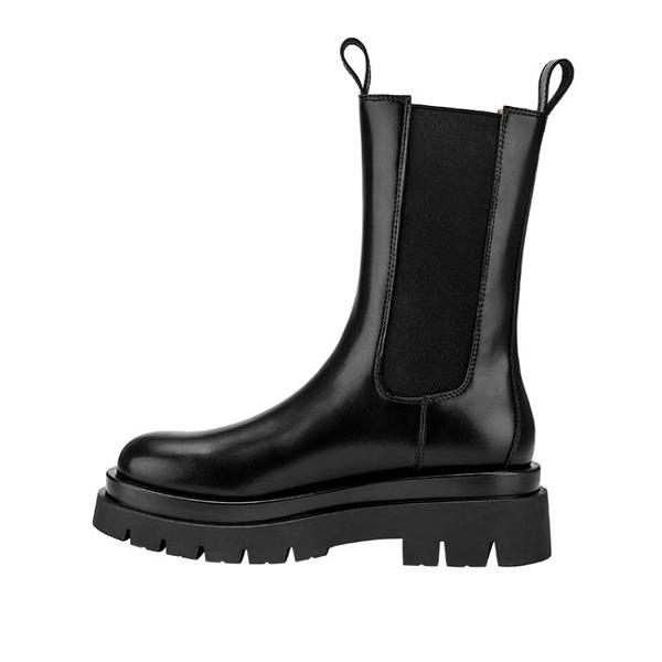 鞋子女2020年新款切爾西短靴中筒靴厚底英倫風顯瘦馬丁靴女
