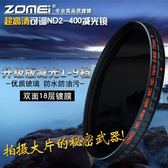 可調ND 2-400減光鏡67適用佳能尼康索尼鏡頭77mm/72中灰鏡82 ND鏡 智慧e家