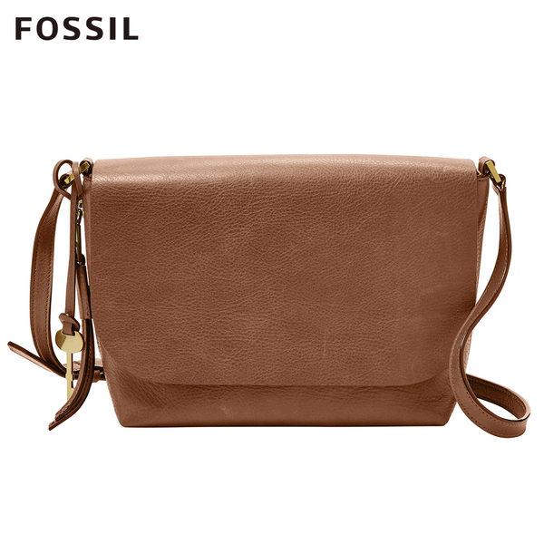 FOSSIL MAYA 咖啡色柔軟真皮斜背包 ZB7615200