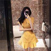 洋裝—夏新款韓版復古氣質慵懶風裙子冷淡風極簡主義連身裙初戀裙女 草莓妞妞
