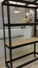 """""""消光黑免螺絲角鋼架""""高6尺長4尺深1.5尺4層9MM木板含運2100元.水族置物架貨架鐵架角鋼架"""