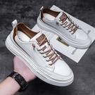 男鞋子2021年秋季新款潮鞋潮流皮鞋男士運動鞋小白鞋夏季休閑板鞋 初色家居館