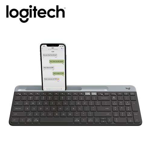 【Logitech 羅技】K580 超薄跨平台藍牙鍵盤 石墨灰 【贈萬用柔濕巾20抽】