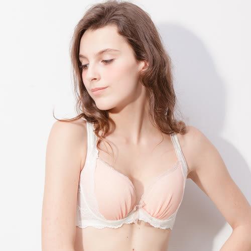包覆乳機能深V低脊心單件內衣薇如推薦款 -牙白-波曼妮亞-內衣