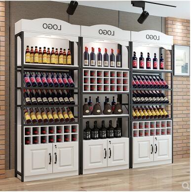 紅酒櫃歐式紅酒櫃酒水酒架落地櫃收納鐵藝展示架白酒櫃貨架洋酒產品櫃 LX 交換禮物