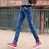 丹寧男士直筒修身青少年初中學生新款韓版潮流長褲子男  朵拉朵衣櫥