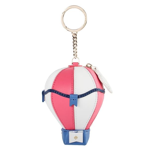 Kate Spade立體熱氣球造型鑰匙圈零錢包(粉白色)221034