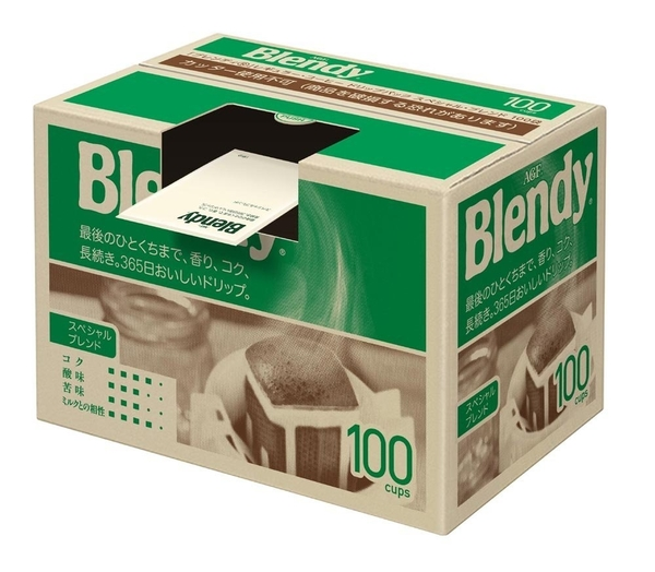 日本 AGF Blendy 濾掛式咖啡 盒裝100本入 手沖咖啡 摩卡/濃郁/特級【小福部屋】