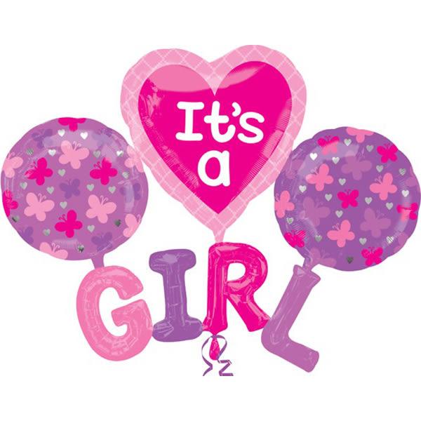 129*101cm鋁箔氣球(不含氣)-是女孩