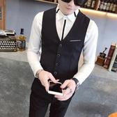 西裝馬甲襯衫馬甲男韓版修身潮帥氣薄款發型師外套潮男時尚休閒小西裝背心 可然精品