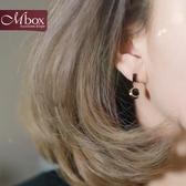 925純銀針耳釘女氣質韓國簡約百搭耳環耳飾個性黑色精致小巧耳墜 居享優品