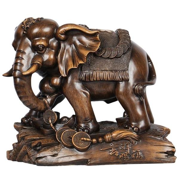 大象擺件一對大號招財開業禮品