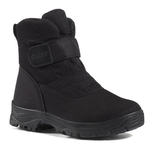 OLANG KIEV OLANTEX 男防水雪靴.雪鞋 黑 OL-1401 (厚鋪毛) 防滑鞋底.雪地靴.滑雪.保暖.抗寒